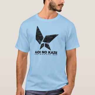 ANK Grunge Black on Light Blue T-Shirt