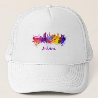 Ankara skyline in watercolor trucker hat