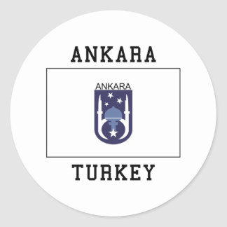Ankara Turkey Classic Round Sticker