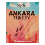 Ankara Turkey Vintage Travel Poster