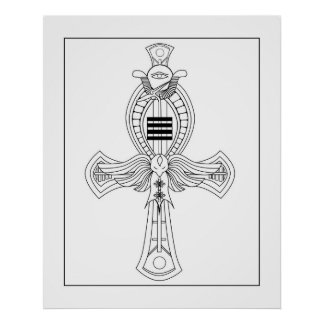 Ankh Coloring Poster