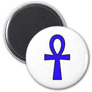 Ankh Egyptian Hieroglyphic Symbols Life Key Blue Refrigerator Magnets