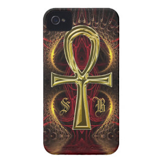 Ankh Gold Goddess Monogram iPhone 4 iPhone 4 Cases
