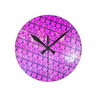 Ankh Pattern Round Clock
