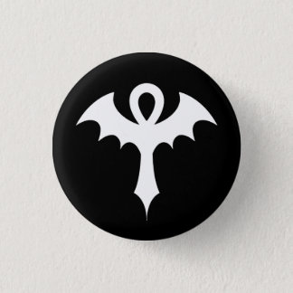 Ankh With Bat Wings 1 Inch Round Button