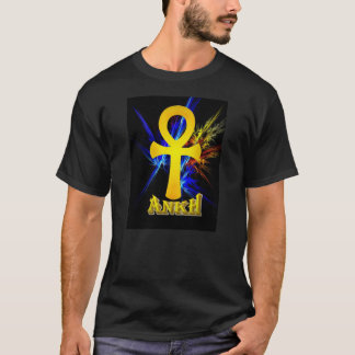 Ankh with Fractal Lightning T-Shirt