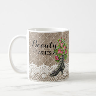 Ankle Boot Beauty for Ashes Rose Flower Christian Coffee Mug
