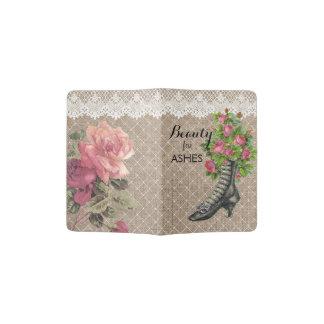 Ankle Boot Beauty for Ashes Rose Flower Passport Passport Holder