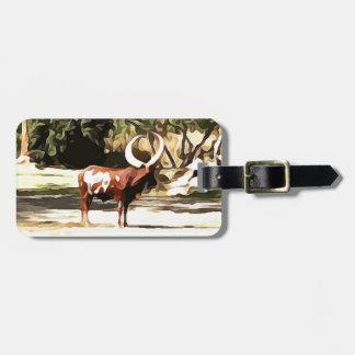 Ankole-Watusi from Safari Luggage Tag
