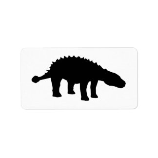 Ankylosaurus Dino Dinosaur Silhouette Custom Address Labels