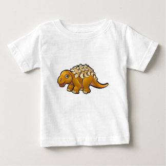 Ankylosaurus Dinosaur Cartoon Character Baby T-Shirt