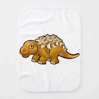 Ankylosaurus Dinosaur Cartoon Character Burp Cloth