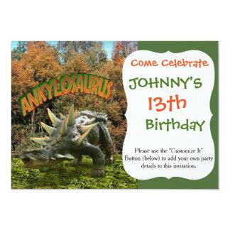 Ankylosaurus Dinosaur Park Vegetation and  Volcano Card