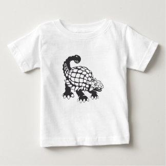 Ankylosaurus Dinosaur Prehistoric Black and White Baby T-Shirt