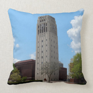 Ann Arbor Michigan Clock Tower Throw Pillow