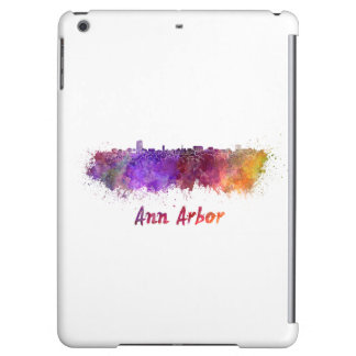 Ann Arbor skyline in watercolor iPad Air Cover