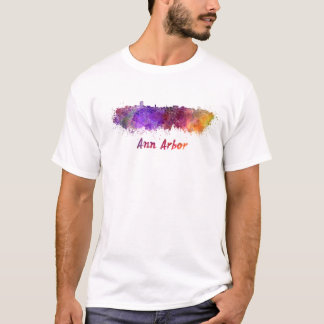 Ann Arbor skyline in watercolor T-Shirt