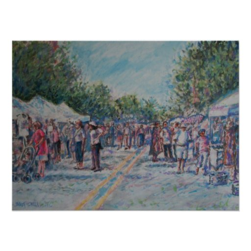 Ann Arbor's African-American Festival-pastel Poster