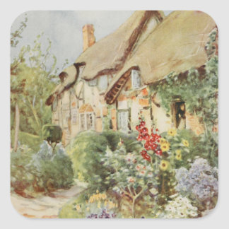 Ann Hathaway's Cottage II, Stratford-upon-Avon, En Square Sticker