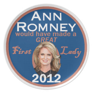 Ann Romney First Lady Party Plates