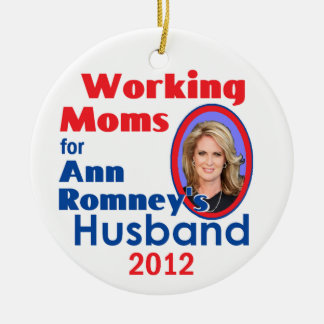 ANN ROMNEY ROUND CERAMIC ORNAMENT