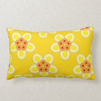 Ann Tuck - Yellow Geometric Flower Pillow