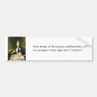 Anna Amalia of Brunswick-Wolfenbuttel 1739-1807 Bumper Sticker