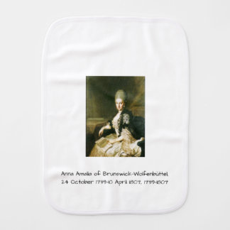 Anna Amalia of Brunswick-Wolfenbuttel 1739-1807 Burp Cloth