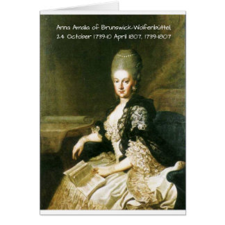 Anna Amalia of Brunswick-Wolfenbuttel 1739-1807 Card