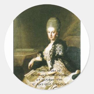 Anna Amalia of Brunswick-Wolfenbuttel 1739-1807 Classic Round Sticker