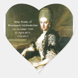 Anna Amalia of Brunswick-Wolfenbuttel 1739-1807 Heart Sticker