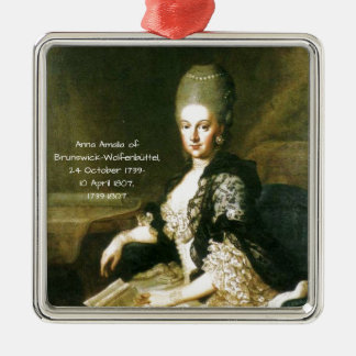 Anna Amalia of Brunswick-Wolfenbuttel 1739-1807 Metal Ornament