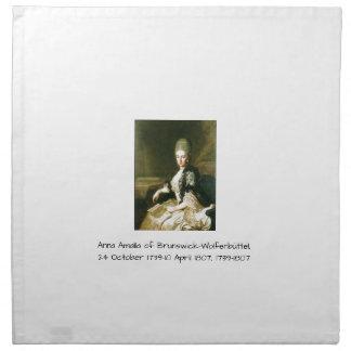 Anna Amalia of Brunswick-Wolfenbuttel 1739-1807 Napkin