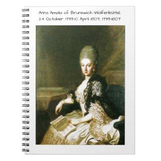 Anna Amalia of Brunswick-Wolfenbuttel 1739-1807 Notebook