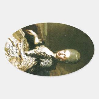 Anna Amalia of Brunswick-Wolfenbuttel 1739-1807 Oval Sticker