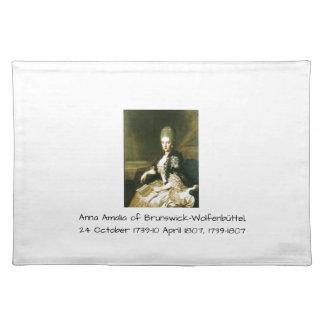 Anna Amalia of Brunswick-Wolfenbuttel 1739-1807 Placemat