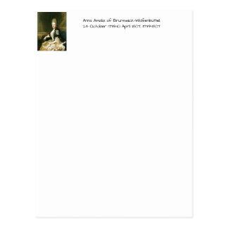 Anna Amalia of Brunswick-Wolfenbuttel 1739-1807 Postcard