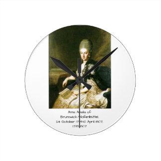 Anna Amalia of Brunswick-Wolfenbuttel 1739-1807 Round Clock