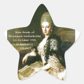 Anna Amalia of Brunswick-Wolfenbuttel 1739-1807 Star Sticker