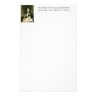 Anna Amalia of Brunswick-Wolfenbuttel 1739-1807 Stationery