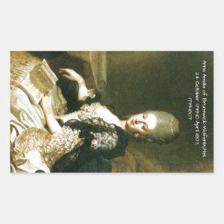 Anna Amalia of Brunswick-Wolfenbuttel 1739-1807 Sticker