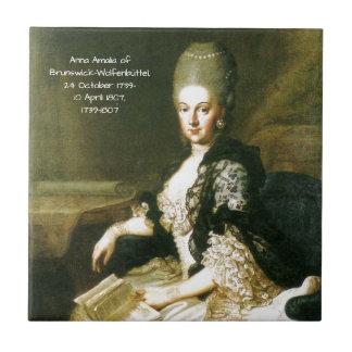 Anna Amalia of Brunswick-Wolfenbuttel 1739-1807 Tile