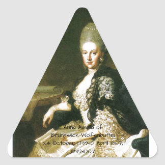 Anna Amalia of Brunswick-Wolfenbuttel 1739-1807 Triangle Sticker