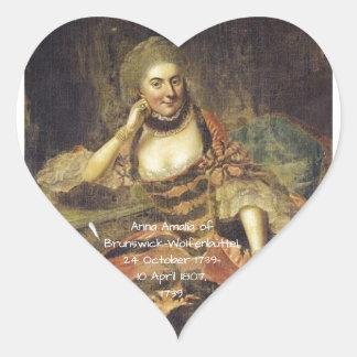 Anna Amalia of Brunswick-Wolfenbuttel 1739 Heart Sticker