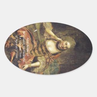 Anna Amalia of Brunswick-Wolfenbuttel 1739 Oval Sticker