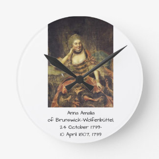 Anna Amalia of Brunswick-Wolfenbuttel 1739 Round Clock