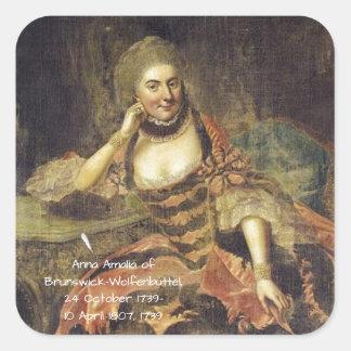 Anna Amalia of Brunswick-Wolfenbuttel 1739 Square Sticker