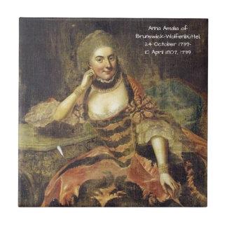 Anna Amalia of Brunswick-Wolfenbuttel 1739 Tile