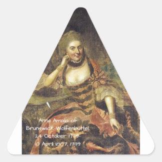 Anna Amalia of Brunswick-Wolfenbuttel 1739 Triangle Sticker