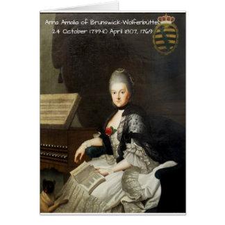 Anna Amalia of Brunswick-Wolfenbuttel 1769 Card